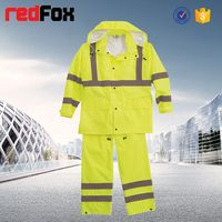 reflecting safety industrial womens rain coat