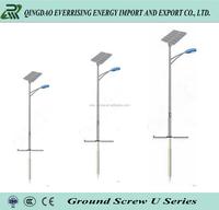 Ground Screw Anchor Galvanized Steel Pole For Street Lighting