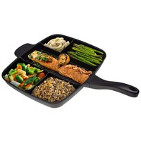 Innovation 5 Sections Divided Non-stick Grill Master Frying Pan