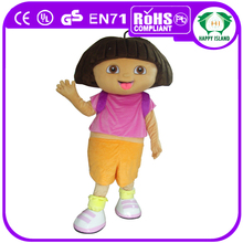 HI Popular hot! character dora the explorer mascot costume,custom mascot character,mascot