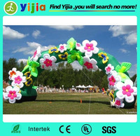 Factory price oxford material wedding decoration gate flower