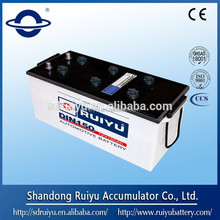 12V DIN&JIS standard dry charged truck battery for tractor