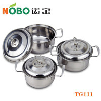 6PCS Hot Sale Stainless Steel Cookware Sets Cooking Pot for Wholesale
