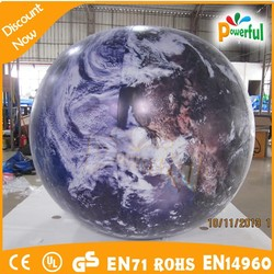 CE EN71 EN14960 inflatable earth/big inflatable earth for sale