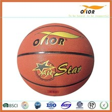 12 pannels Size 7 PU leather laminated outdoor training basketballs