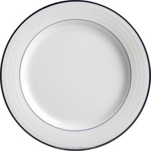 "beautiful ceramic white plate 12 inch "" One Line"""