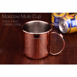14oz Moscow mule copper mugs,Stainless Steel Cocktail Mug Cup Martini Cup Bar Party Juice Mug Beer Tumbler