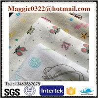 100% Cotton 20*10 40*42 Hot Sale Cotton Printed Flannel Quilted Fabric for Baby