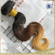 New Products Top quality aliexpress hair brazilian body weave ombre hair weaves colours