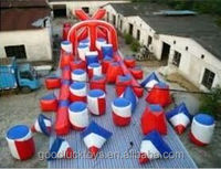 paintball obstacles/ inflatable airsoft bunker /inflatable paintball obstacle