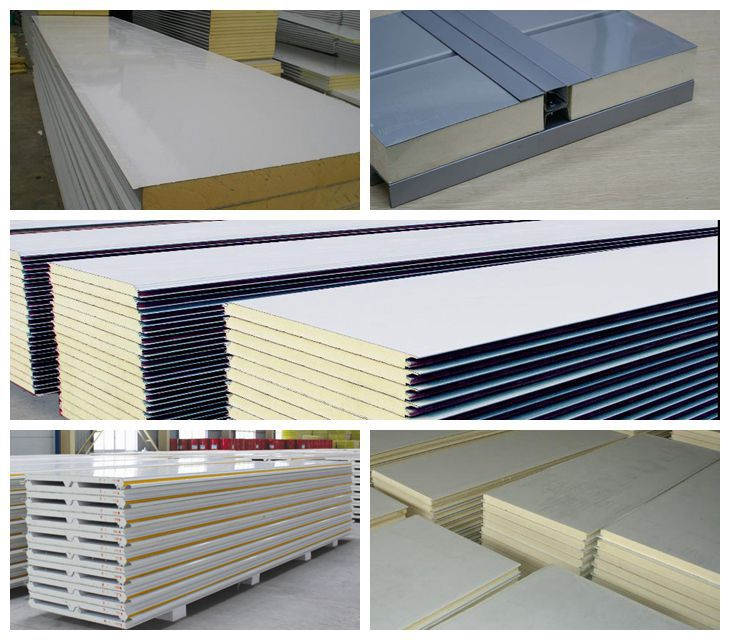 Used Freezer Insulated Panels : Polyuréthane panneau sandwich chaleur isolation ignifuge