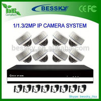 Best sale 8ch nvr kit system with ONVIF P2P indoor IP Camera 2.0 Megapixel,full hd network IP camera, security camera system