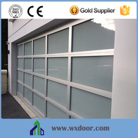 china supplier cheap automatic electric glass garage door for sale