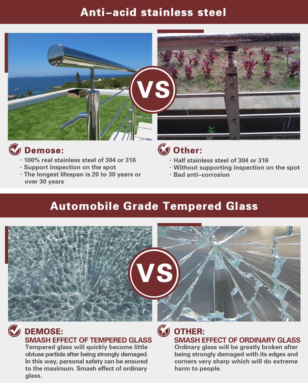 Moderne balkon staal grill ontwerpen voor outdoor-balustrades en ...