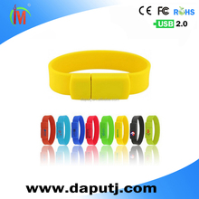 Wholesale low price and good quality braccelet usb flash drive with great shock strength