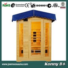 2015 KL-4LOG outdoor dry far infrared sauna house