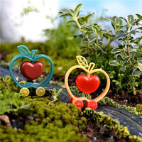 Novelty Apple- Cart Potted Flower Plant Craft DIY Decoration Home Garden Small Ornaments Crafts Gift For Woman