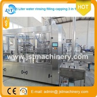 High cost PET 1500bph automatic big bottle mineral water washing filling capping line for Chile
