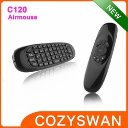 New C120 2.4Ghz Wireless mini USB Air Mouse and Keyboard
