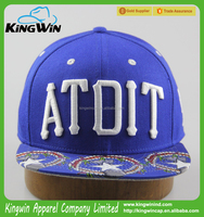 Custom printing wool/acrylic snapback hat/flat brim 6 panel 3d embroidery snapback hat and cap