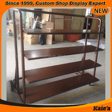 nice look free standing steel display stand