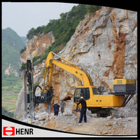 Operator safety easily maintained quarry used hydraulic track drill