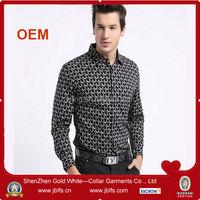 2014 new design fashion cheap printed mens shirt