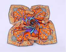 Fashionable Wholesale Screen Printing Square 100% Silk Scarf In Stock