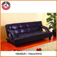Shining Indigo Armrest Leather Sofa bed