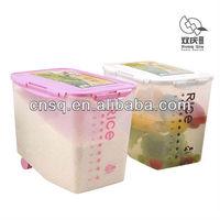 plastic kitchen rice bins storage