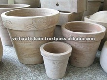 Traditional Terracotta Flower pot, chocolate color