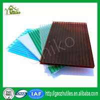 Double wall transparent polycarbonate roof sheet pc material lowes sunrooms