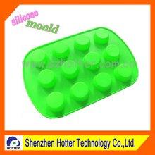 green silicone muffin pan