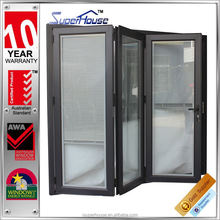 Australia style double glass bifolding patio doors with blinds