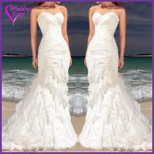 Cheap Prices!! OEM Factory Custom Design wedding dress in organza