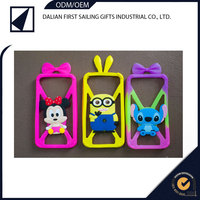 Factory price cartoon painting silicone rubber phone case mobile cover