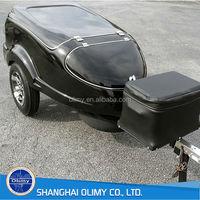Olimy fiberglass motorcycle cargo trailer fiberglass trailer