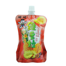Manufacturers heat seal custom printed plastic spout pouch for food juice