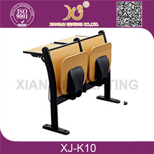 XJ-K10 professional school desk and chair sets/wood metal school desk with chairs
