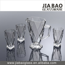 High quality new glass cup with pitcher water set wholesale drinking set
