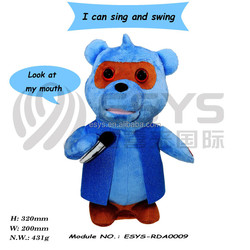 2015 custom electronic teddy bear masha and the bear toy with sing and music