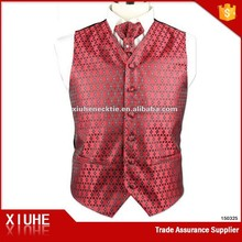 mens polyester fashion cheap vest and tie set