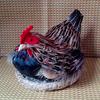 outdoor garden decorative plush chicken with eggs