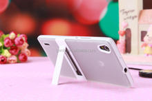 TPU+PC Mobile Phone Case Translucent Matte With Stand for P7