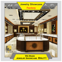 High end wood jewelry store display cases jewelry display table furniture wholesale
