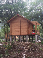2015 Prefabricated building wood house log home factory direct sales