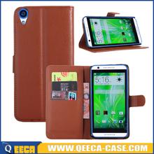 Wholesale PU leather wallet case flip cover case for htc desire 820