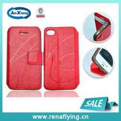 Luxury PU leather case for iphone 4g 4s