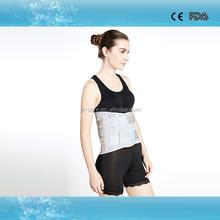six aluminium bars padded medical lumbar support belt for strong waist support