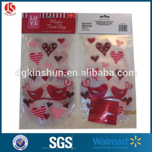 Valentine decoration Bakery Cookie bag Cellophane treat Bag